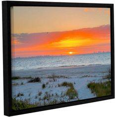 ArtWall Steve Ainsworth Sanibel Sunrise IV Gallery-Wrapped Floater-Framed Canvas, Size: 18 x 24, White