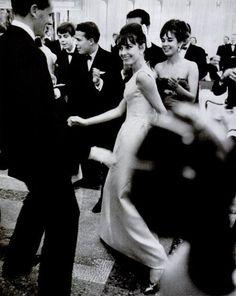Audrey Hepburn doing the twist, 1962