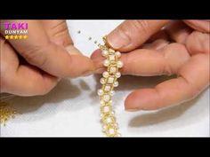 Takı-Takı Tasarımı-Kare Ve Kum Boncuklu Basit- Kolay Bileklik Yapımı-Part-2(DETAYLI- SESLİ ANLATIM) - YouTube