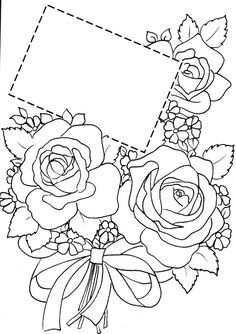 Archiv alb Fall Coloring Pages, Flower Coloring Pages, Coloring Books, Hand Embroidery Designs, Embroidery Patterns, Cute Flower Drawing, Parchment Cards, Wreath Drawing, Art Drawings For Kids