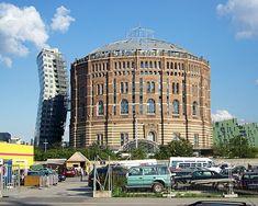 Gasometro de Viena, reconversion realizada por el arquitecto Jean Nouvel