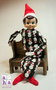 Jingle Shirt & Pants in Snowmen - Elf on the Shelf Outfit