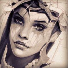 DarkTimeless  #art #arte #retro #rose #beauty #wip #coffe #tattoo #tattoed…