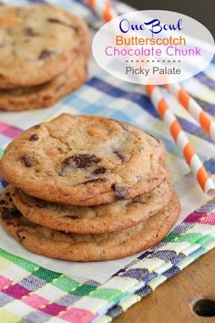 One Bowl Butterscotch Chocolate Chunk Cookies from @Jenny Flake, Picky Palate