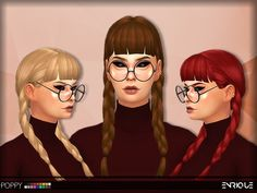 Enrique: Poppy hair for Sims 4