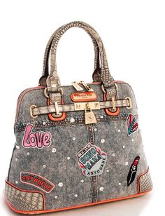 c6b9b89fad1c Nicole Lee Athena Patch Print Handbag – GIVE ME MY BAG Nicole Lee Handbags