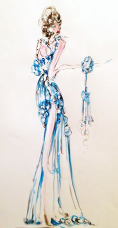 watercolour, acrylic, ink - 2014 #iamdanielfisher #art #fashionillustration