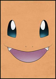 Charmander face- round cake layer- starter pokemon cake