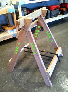 Saw horse plans for the ultimate sawhorse.
