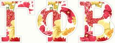 "Gamma Phi Beta Floral Greek Letter Sticker - 2.5"" Tall from GreekGear.com"