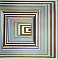Victor Vasarely faded lines