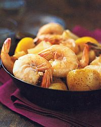 Shrimp Boil Recipe on Food & Wine  Try-Not Spicy-I have seen the recipe also with Corncob added