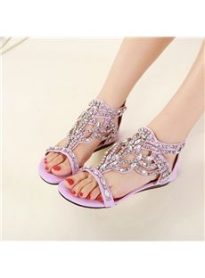 Fashion New Summer Peep-toe Flat Sandals
