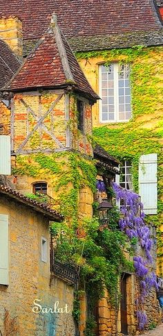 Sarlat, Aquitaine, France. Such a beautiful town. Chris, several visits.