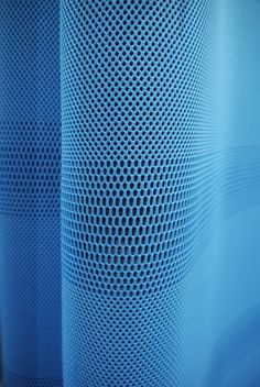Lift by Konstantin Grcic in collaboration with Maharam, Texture Inspiration - interesting surface 3d Pattern, Surface Pattern, Pattern Design, Circular Pattern, Yoga Studio Design, 3d Texture, Texture Design, Blue Texture, Fabric Textures