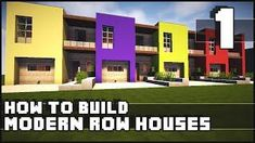 Minecraft House - How to Build : Modern Row Houses - Part we hit 3000 likes on this smexy house? Minecraft Mods, Minecraft Gameplay, Modern Minecraft Houses, Minecraft Plans, Minecraft House Designs, Minecraft Houses Blueprints, Minecraft Videos, Minecraft Tutorial, Minecraft Architecture