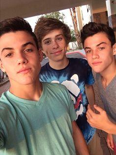 Grayson Dolan, Jack Dail, and Ethan Dolan