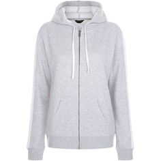 New Look Grey Colour Block Zip Up Hoodie ($21) ❤ liked on Polyvore featuring tops, hoodies, grey hoodie, zip up hoodies, zip up hoodie, grey hoodies and hooded sweatshirt