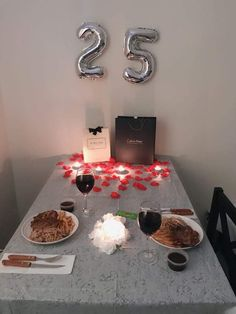 Instead of making a fancy dinner reservation, it will be more meaningful and romantic to spend the ni… 25th Birthday Ideas For Him, Diy Birthday, Birthday Gifts, Sister Birthday, Romantic Gifts For Him, Romantic Ideas, Romantic Quotes, Romantic Surprises For Him, Dinner Reservations