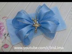 Como fazer laço mil faces triplo Diy ,Pap ,Tutorial By Iris Lima How To Make a Hair Bow - YouTube