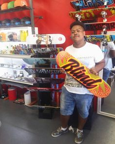 """Mad hyped we could hook the dude up with a fresh """"Quake"""" deck to keep him rolling this summer! Enjoy it stay stoked & skate safe bro! Blind Skateboards, Bro, Deck, Fresh, Instagram Posts, Summer, Shopping, Summer Time, Front Porches"""