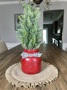 Mason Jar Christmas Tree – The Rustic Peach