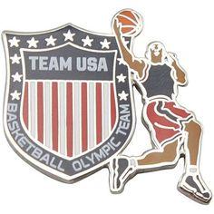 2012 Team USA Basketball Olympic Shield Pin