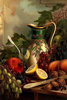 Wilkie, Robert D., ~ still life Caravaggio, Tableau Pop Art, Foto Transfer, Still Life Images, Still Life Fruit, Robert D, Fruit Painting, Painting Still Life, Art Moderne