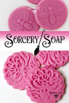 Pink Soap Dough – This is pliable fully saponified cold process soap! Use it to mold soap to enchant your own soaps, push into molds or wash with it in its still pliable state. Great bubbles and creamy consistency. Soap dough is a clay-like soap that can be pushed, molded and sculpted into any shape you desire. #soap #soapwitch #soapmaking #sorcerysoap #soapideas #soapdough #coldprocesssoap
