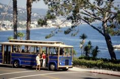 Trolleys provide travelers with a quick, fun ride along the beautiful coastline in Laguna Beach