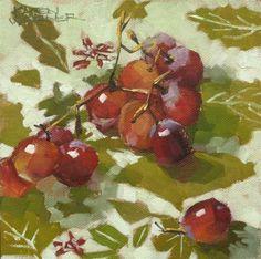 """""""Grapes  and  Greens"""" - Original Fine Art for Sale - © Karen Werner"""