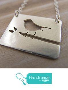 Bird Necklace For Women Sterling Silver Bird On Branch Jewelry from Radiant Jewel Studio https://www.amazon.com/dp/B019JQUBUO/ref=hnd_sw_r_pi_dp_8GMqxbEMBDQ33 #handmadeatamazon