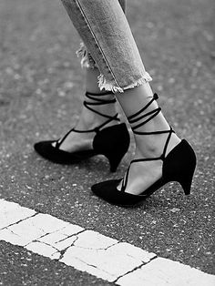 Jeffrey Campbell Andra Kitten Heel in black from free people fashion shoes heels