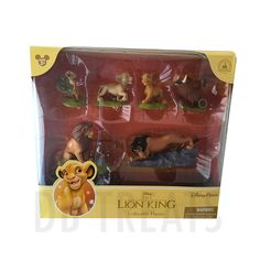Disney Parks Lion King 6 Figurine Playset Play Set Cake Toppers