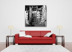 Large urban black and white canvas art print. Modern art for the modern home.  http://www.didgiwidgi.co.uk/htm/canvas_art_gallery/black_and_white/black_and_white_canvas_art_41.htm