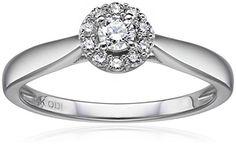 IGI Certified 14k White Gold Round Diamond Halo Solitaire Plus Ring (1/4carat, H-I Color, I1-I2 Clarity)