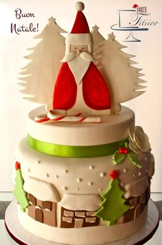 Planet of Christmas trees (from an idea Inspired by Marlene - CakeHeaven) - Cake by Torte Titiioo
