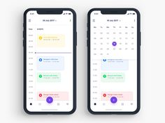 Todo app Calendar designed by Abhinav Agrawal. Connect with them on Dribbble; Web And App Design, App Ui Design, Layout Design, Interface Design, User Interface, Book Design, Cover Design, Design Design, Graphic Design