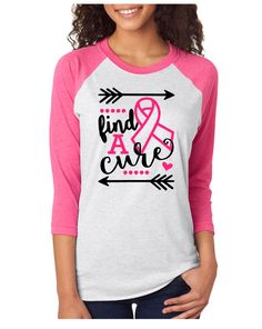 Breast Cancer Find a Cure Raglan Shirt