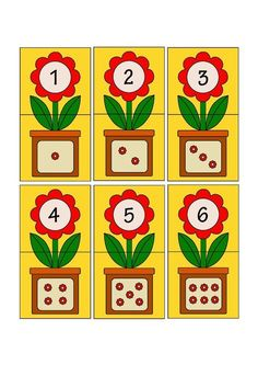 Printable flash card colletion for numbers with dots for preschool / kindergarten kids Kids Math Worksheets, Preschool Learning Activities, Preschool Activities, Teaching Kids, Numbers Preschool, Learning Numbers, Kindergarten Centers, Preschool Kindergarten, School Decorations
