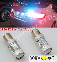 For BMW 3 Series E30 501 Red 4-LED Xenon Bright Side Light Beam Bulbs Pair