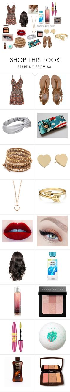 """""""Inspired by Cassie"""" by emotional-juvenile ❤ liked on Polyvore featuring Mela Loves London, Billabong, Marvel, Chan Luu, Kate Spade, Minor Obsessions, Bling Jewelry, Bobbi Brown Cosmetics, Maybelline and Hawaiian Tropic"""