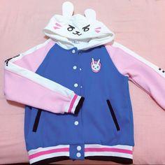 [pre-order Exclusive Designs] Overwatch D.VA Bunny Hoodie Baseball Jacket SD01462