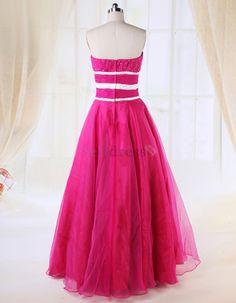 Pear Fuchsia Chapel Train Pleated Rectangle Winter Taffeta Long Tulle Overlay Spring Prom Dress