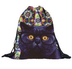 Smart Kitty Drawstring Bag