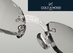 c2d014cd61df Gold and Wood 119 Diamond Glasses Rimless Glasses