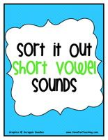 Phonics Worksheets--Identifying vowels
