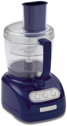 Captivating KitchenAid 7 Cup Food Processor With 3 Cup Mini Bowl Cobalt Blue
