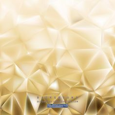 Abstract Light Gold Polygon Triangle Background