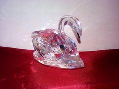 Swarovski Crystal Swan Figurine Retired by NaturesUniqueBotique